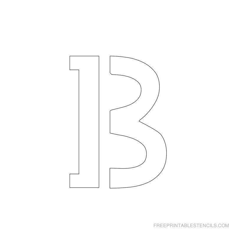 Printable 2 Inch Letter Stencil B