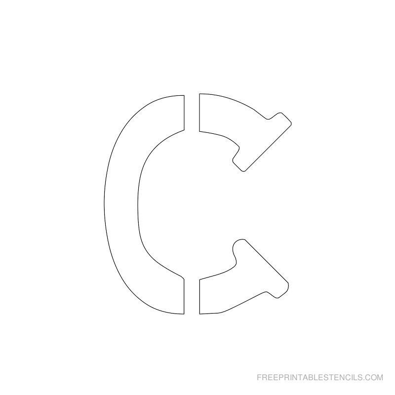 Printable 2 Inch Letter Stencil C