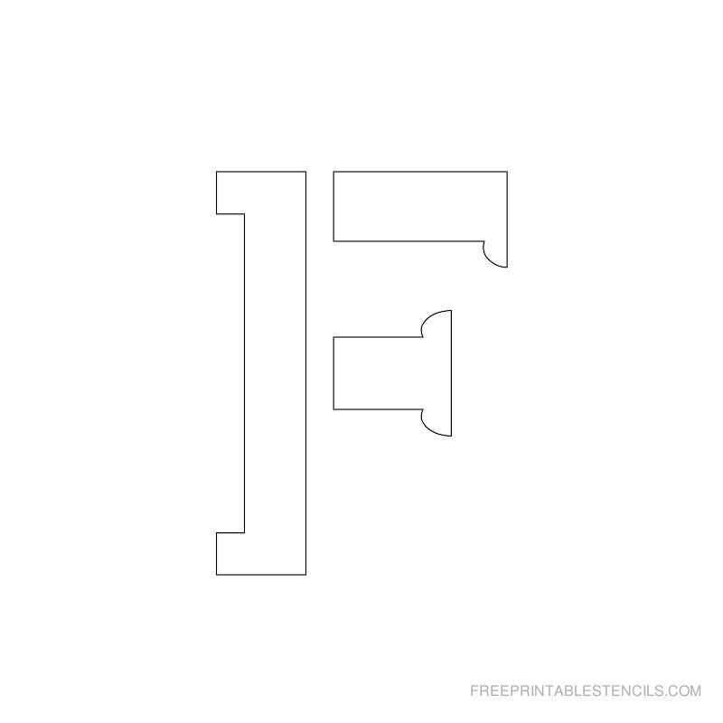 Printable 2 Inch Letter Stencil F