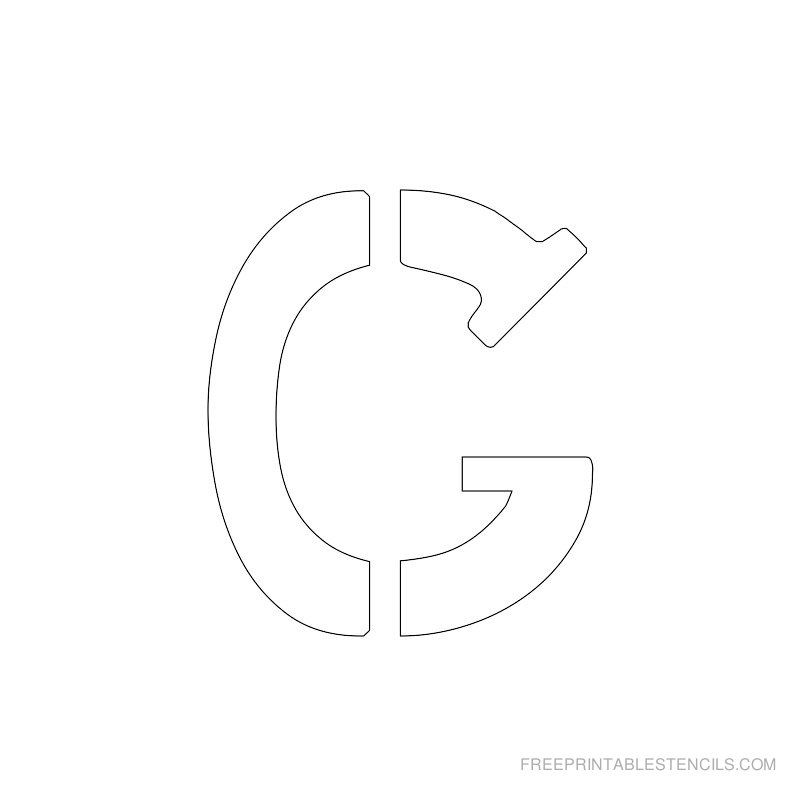 Printable 2 Inch Letter Stencil G