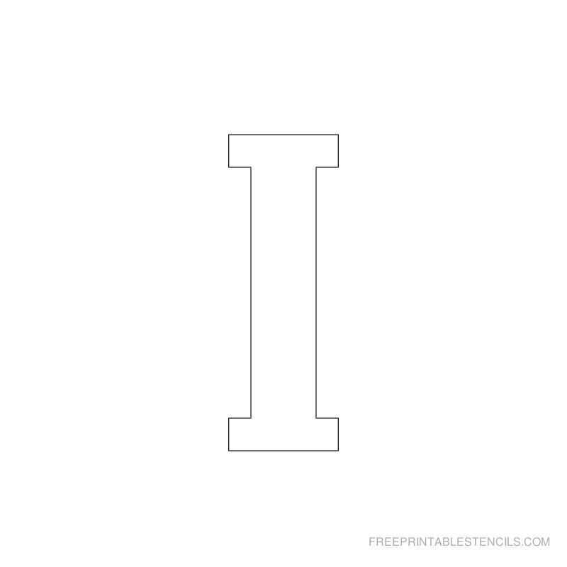 Printable 2 Inch Letter Stencil I