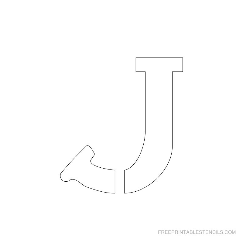 Printable 2 Inch Letter Stencil J