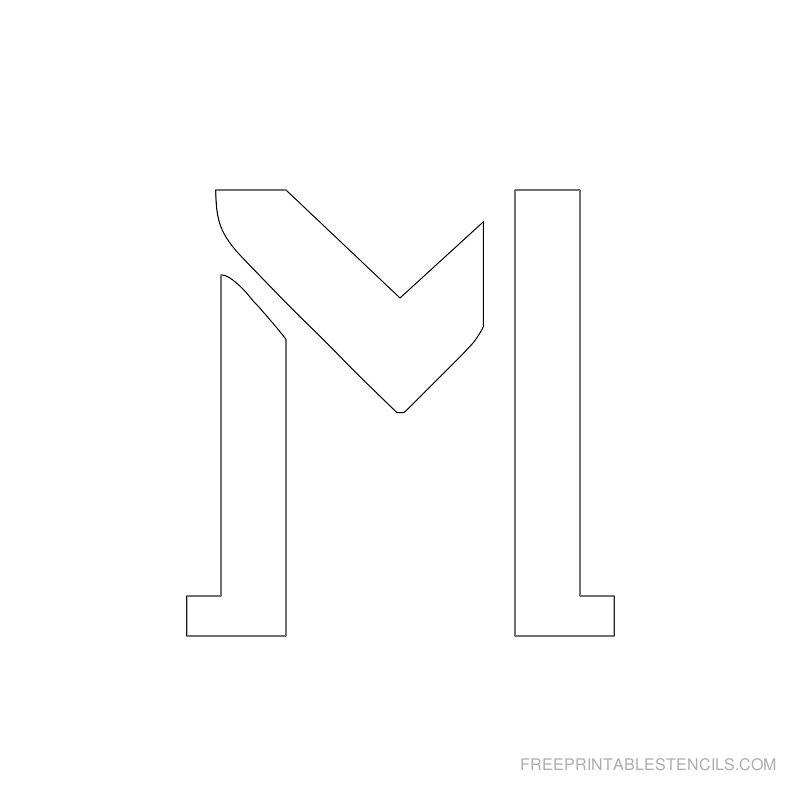 Printable 2 Inch Letter Stencil M
