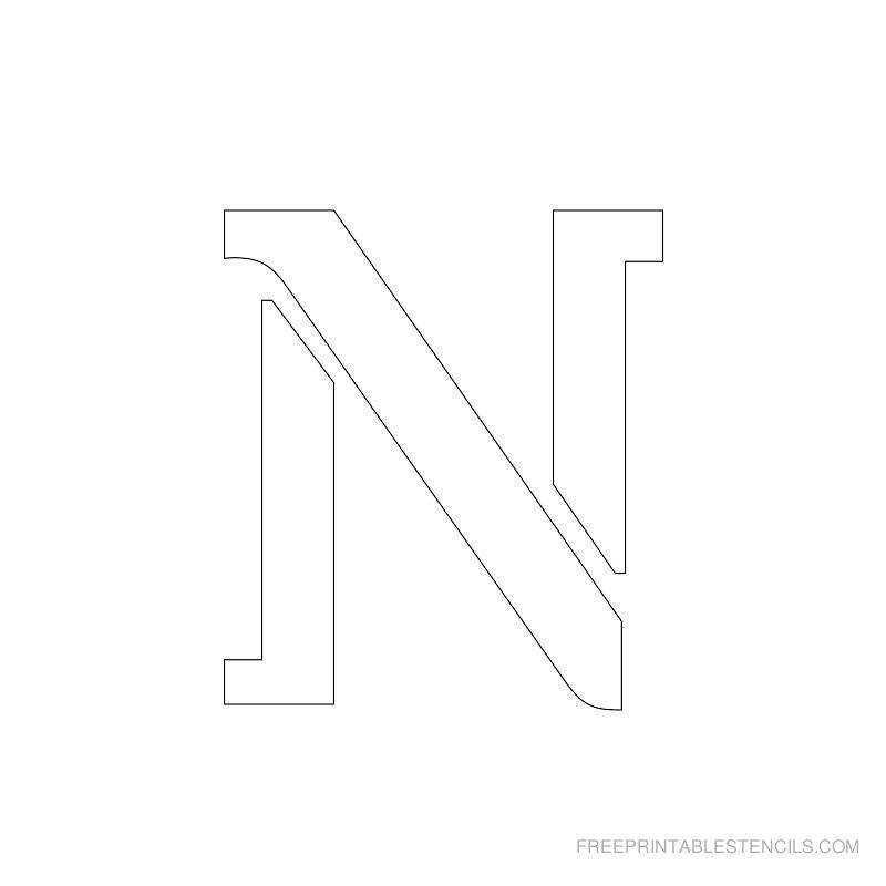 Printable 2 Inch Letter Stencil N