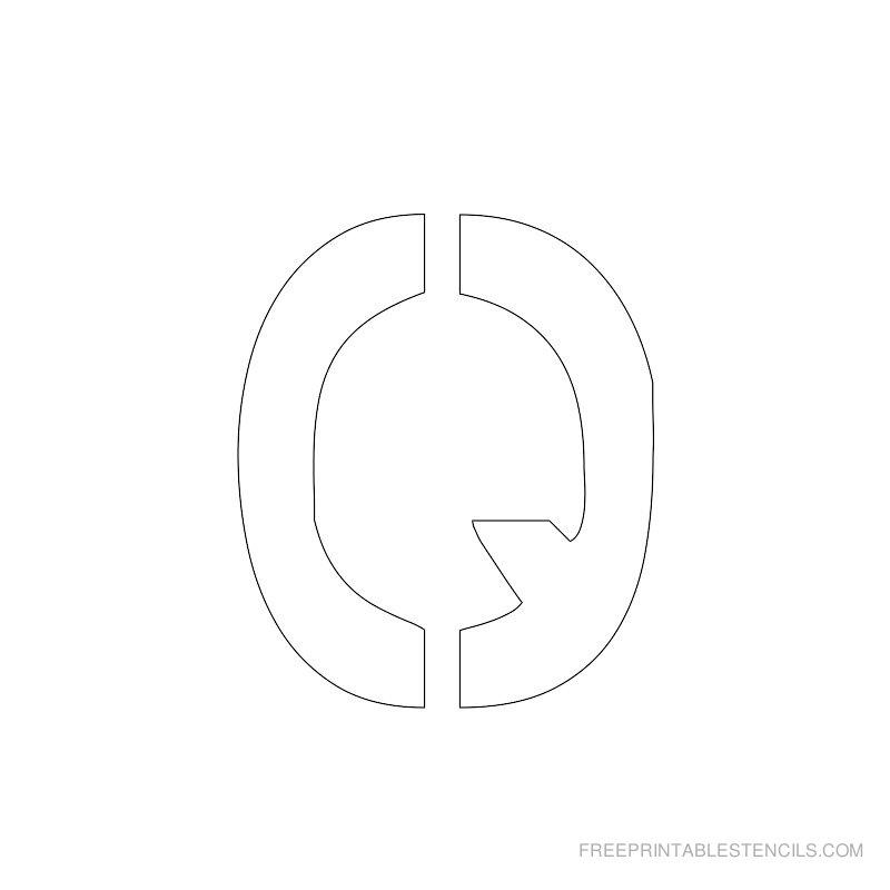 Printable 2 Inch Letter Stencil Q