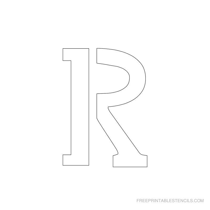 Printable 2 Inch Letter Stencil R