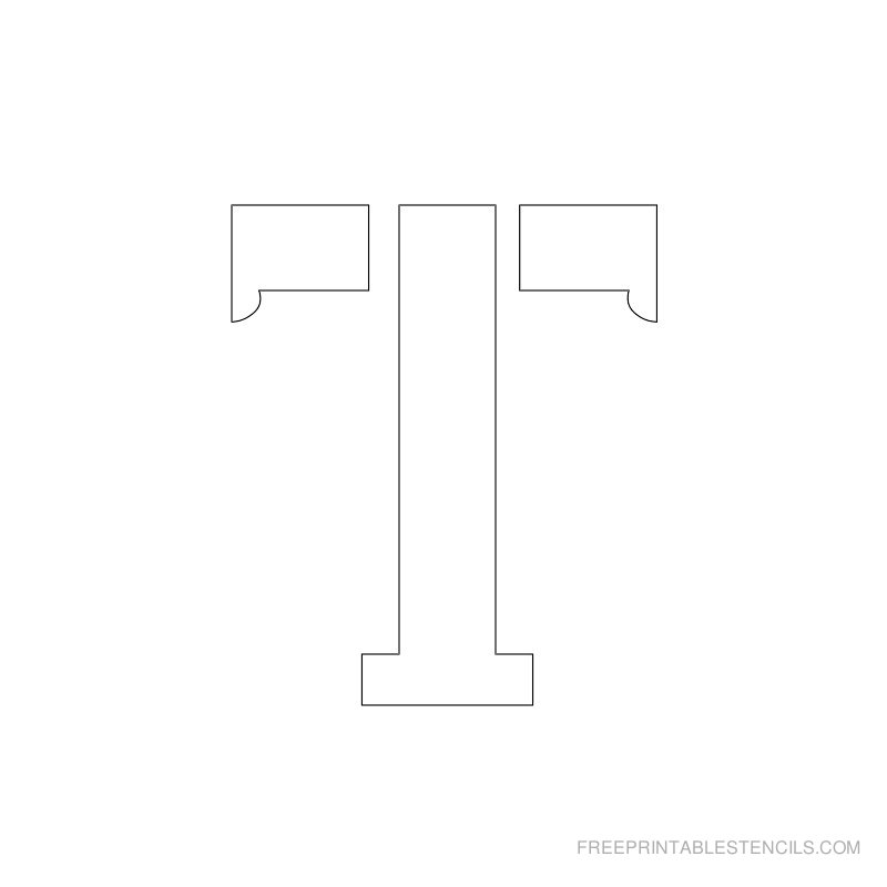 Printable 2 Inch Letter Stencil T