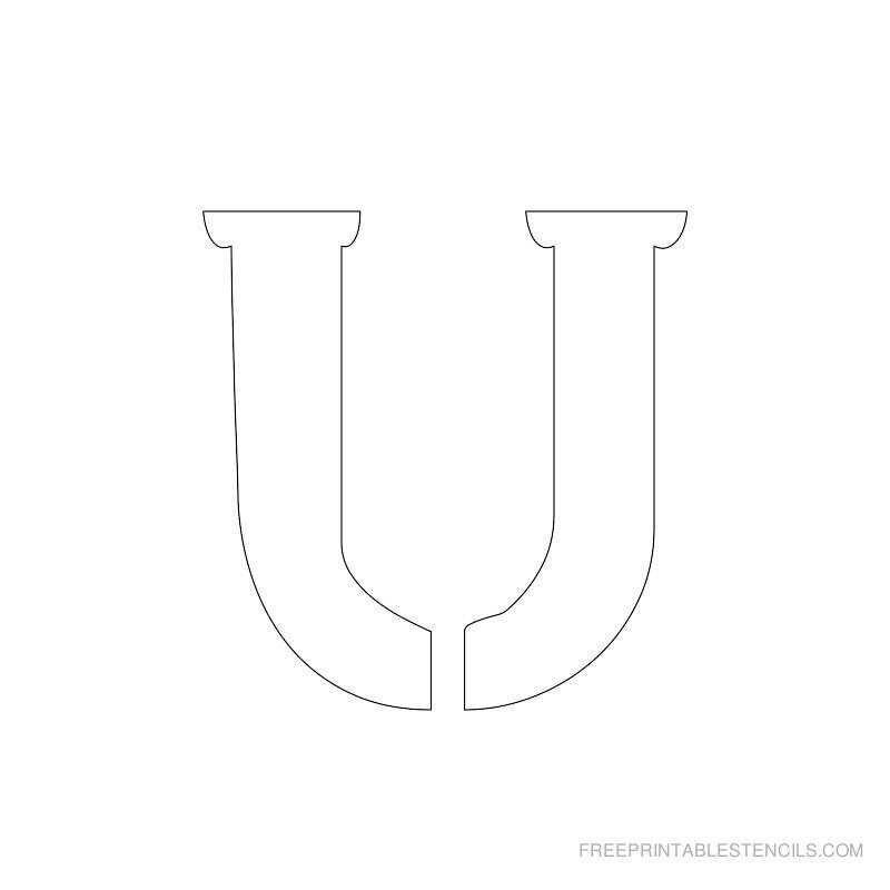 Printable 2 Inch Letter Stencil U