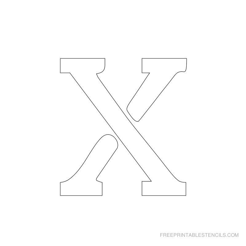 Printable 2 Inch Letter Stencil X