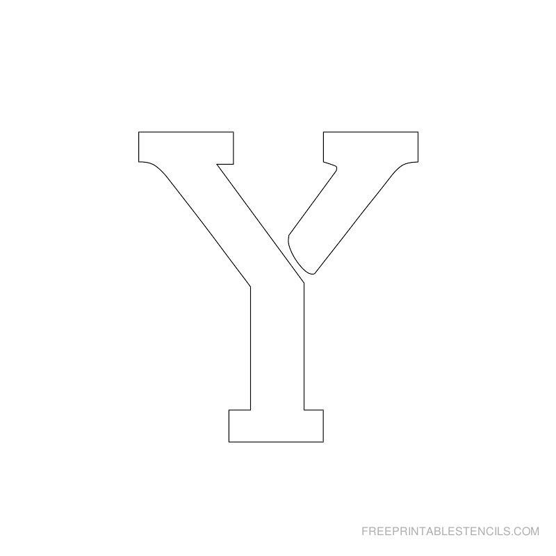 Printable 2 Inch Letter Stencil Y