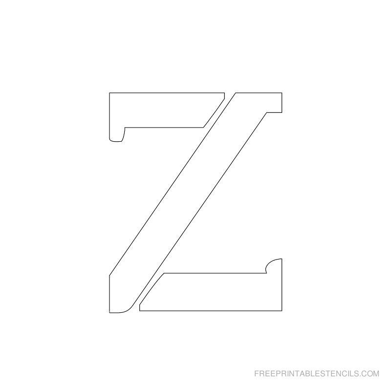 Printable 2 Inch Letter Stencil Z