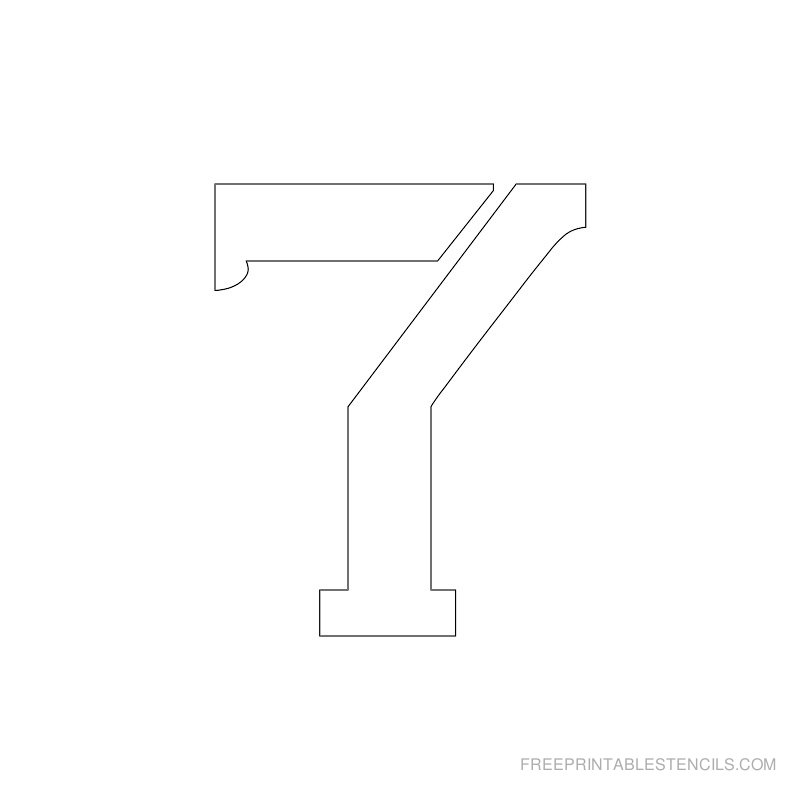 Printable 2 inch Number Stencil 7