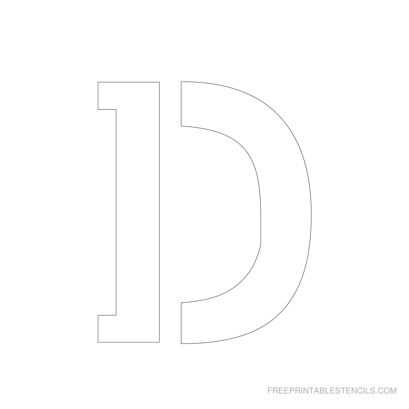 Printable 4 Inch Letter Stencils A Z