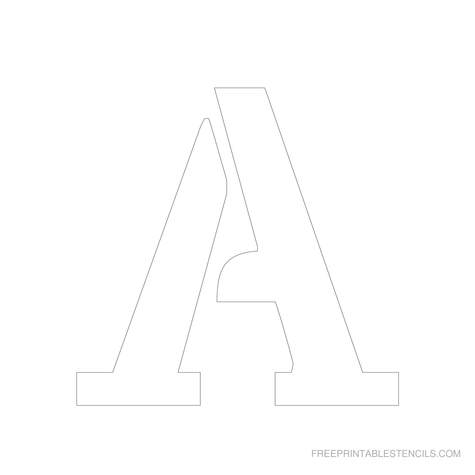 Printable 6 Inch Letter Stencils A Z
