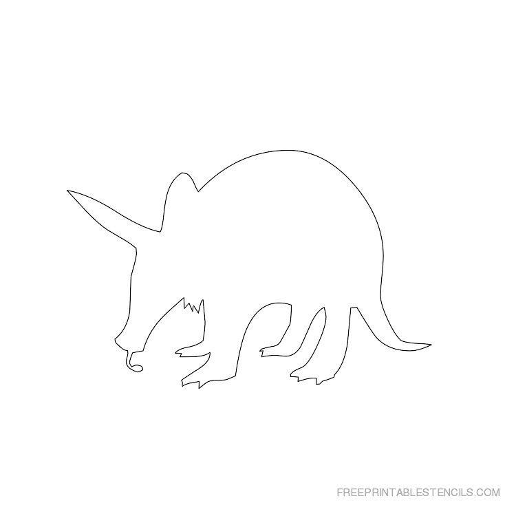 Printable Aardvark stencil 1