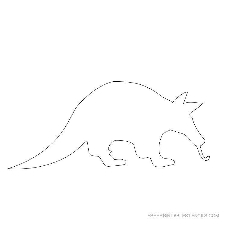 Printable Aardvark stencil 2