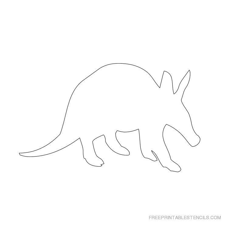 Printable Aardvark stencil 3