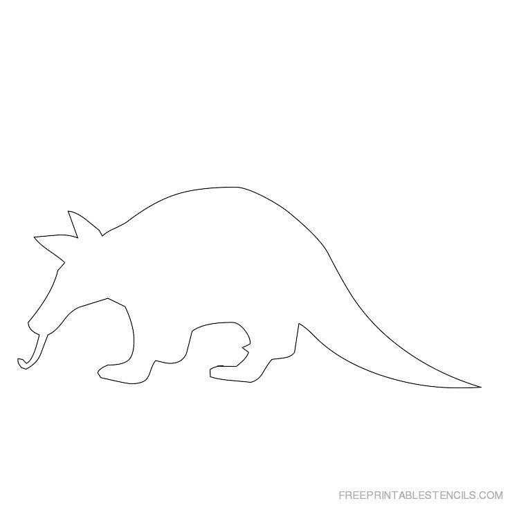 Printable Aardvark stencil 4