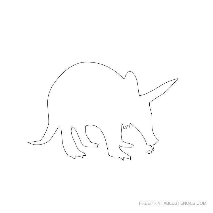 Printable Aardvark stencil 5