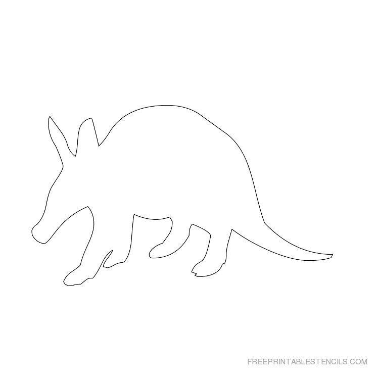 Printable Aardvark stencil 6