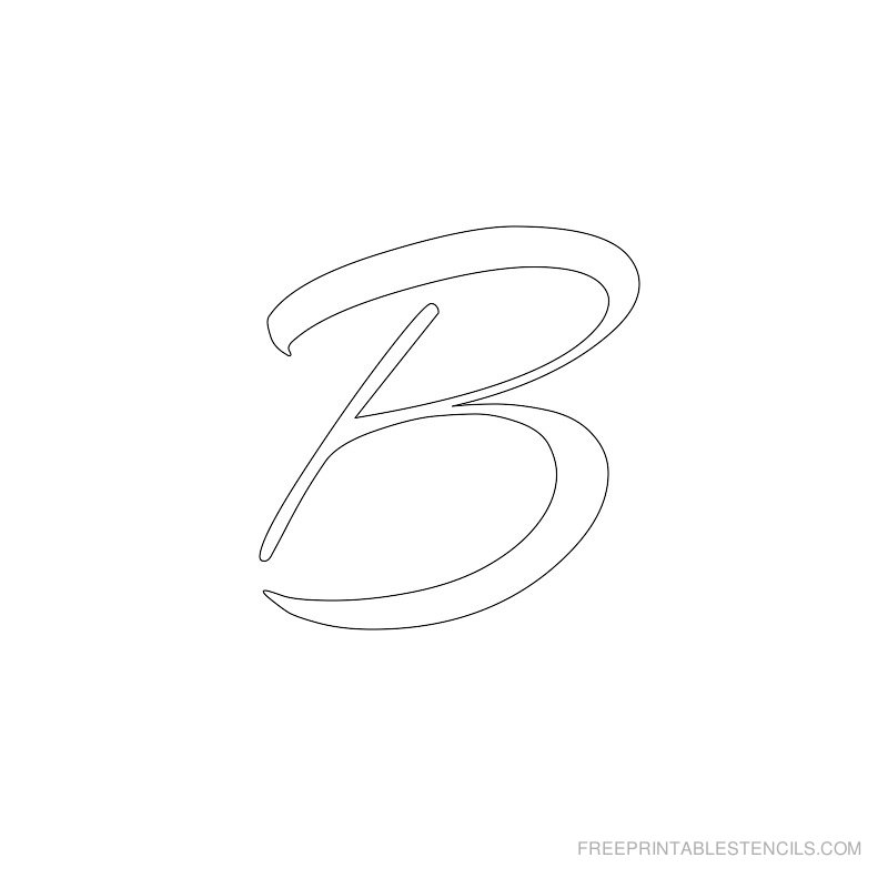Printable Airbrush Alphabet Stencil B