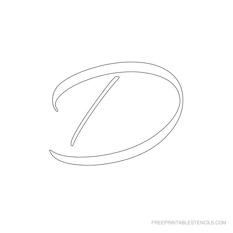 Printable Airbrush Alphabet Stencil D