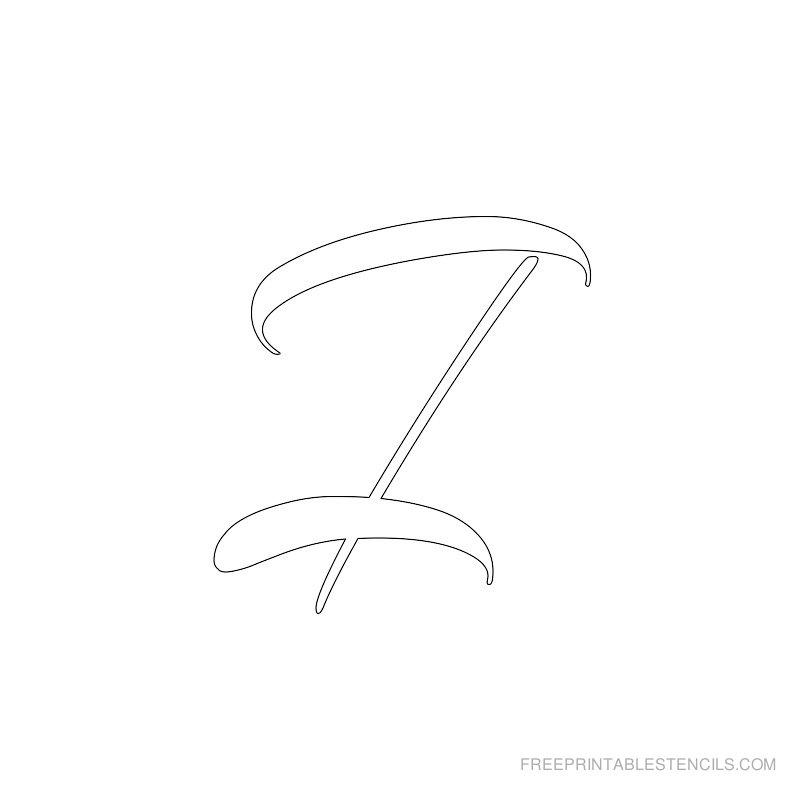 Printable Airbrush Alphabet Stencil I