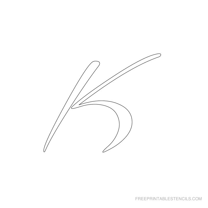 Printable Airbrush Alphabet Stencil K