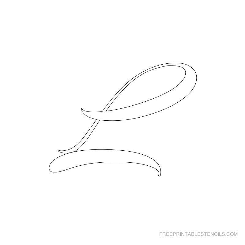 Printable Airbrush Alphabet Stencil L
