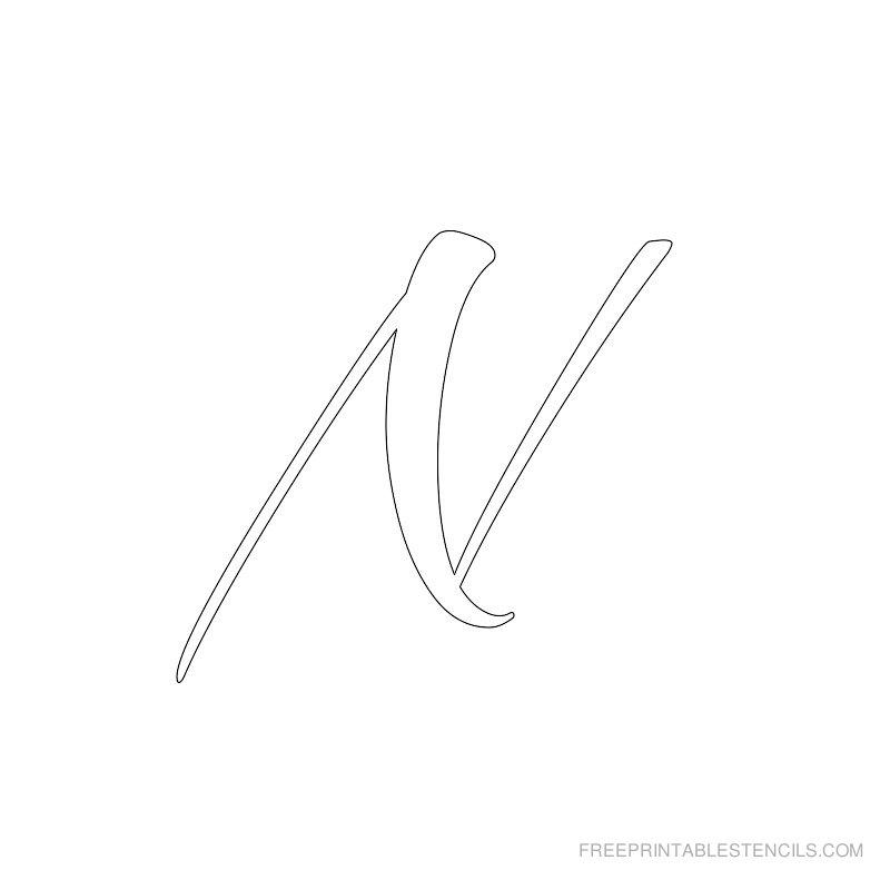 Printable Airbrush Alphabet Stencil N