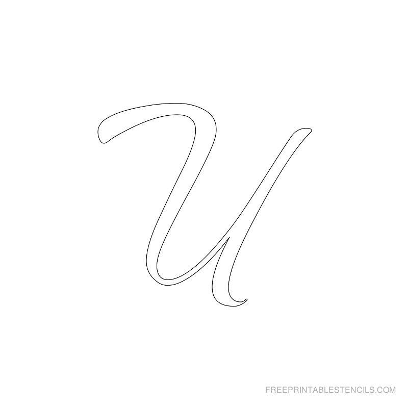Printable Airbrush Alphabet Stencil U
