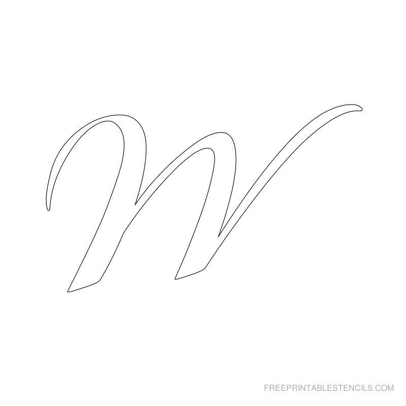 Printable Airbrush Alphabet Stencil W