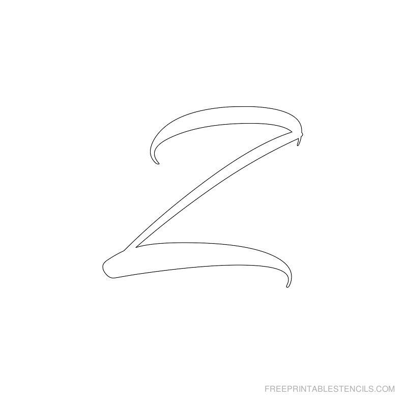 Printable Airbrush Alphabet Stencil Z