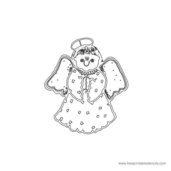 Christmas Printable Stencil Angel