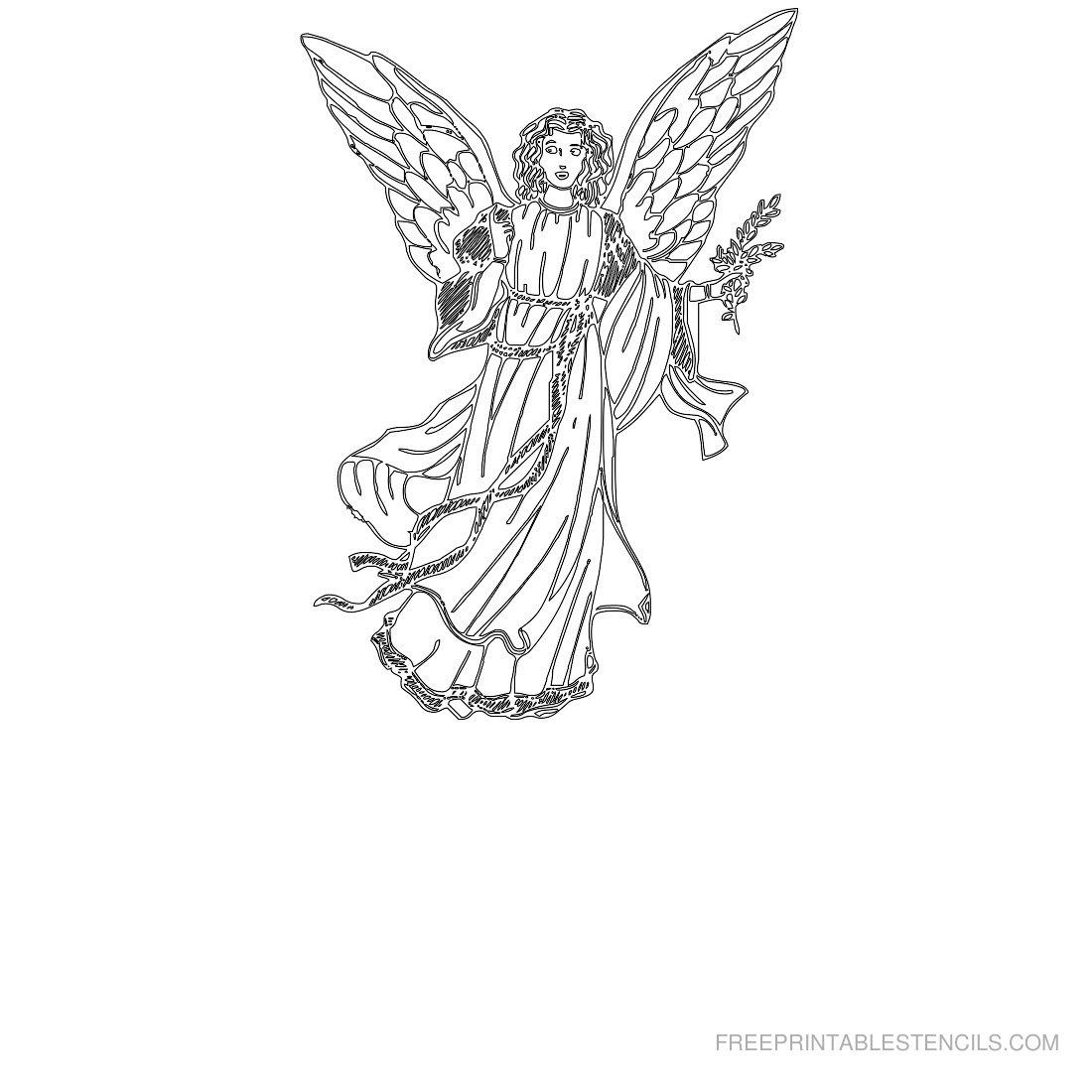 Free Printable Angel Stencil A