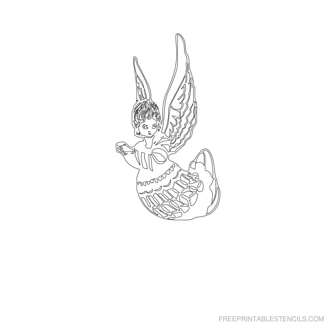 Free Printable Angel Stencil B