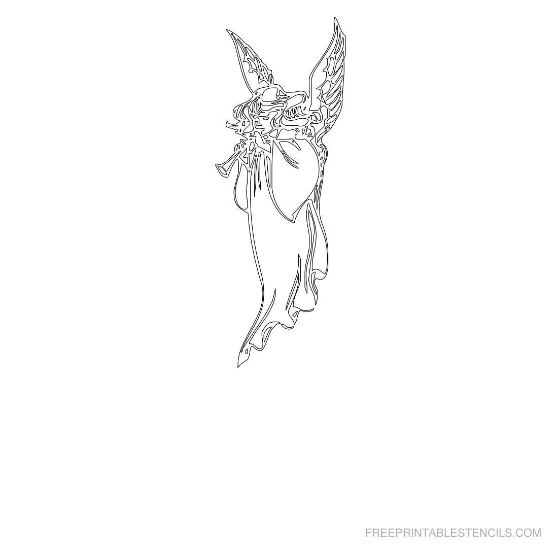 Free Printable Angel Stencil C