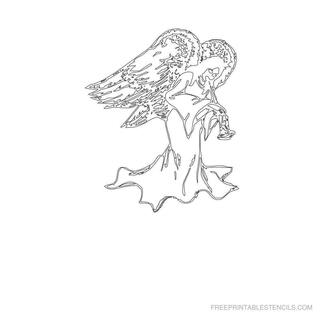Free Printable Angel Stencil D
