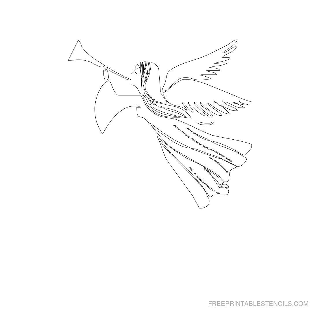 Free Printable Angel Stencil E