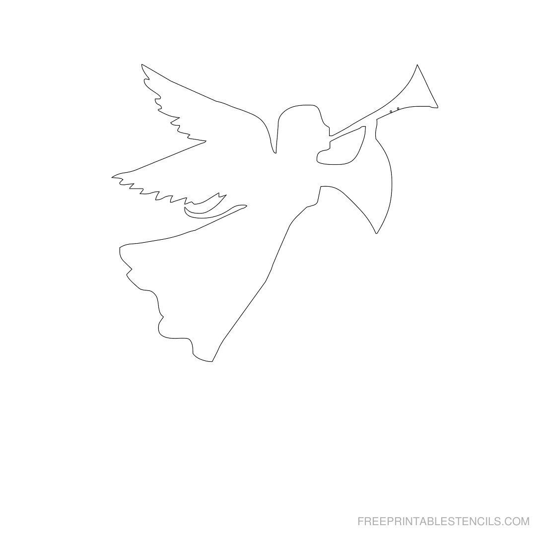 Free Printable Angel Stencil F