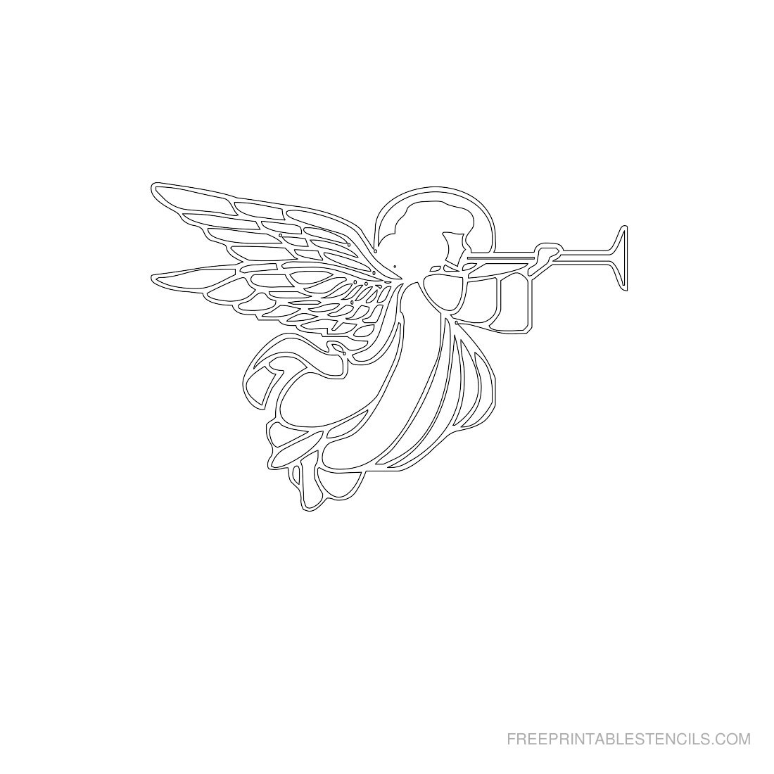 Free Printable Angel Stencil G