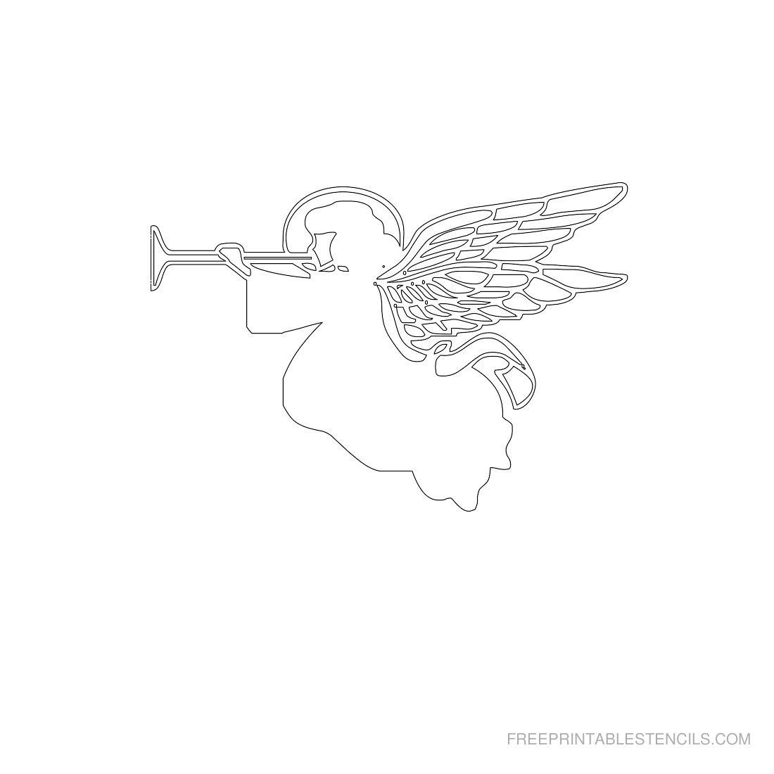Free Printable Angel Stencil K