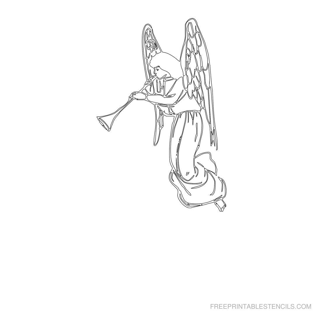 Free Printable Angel Stencil L