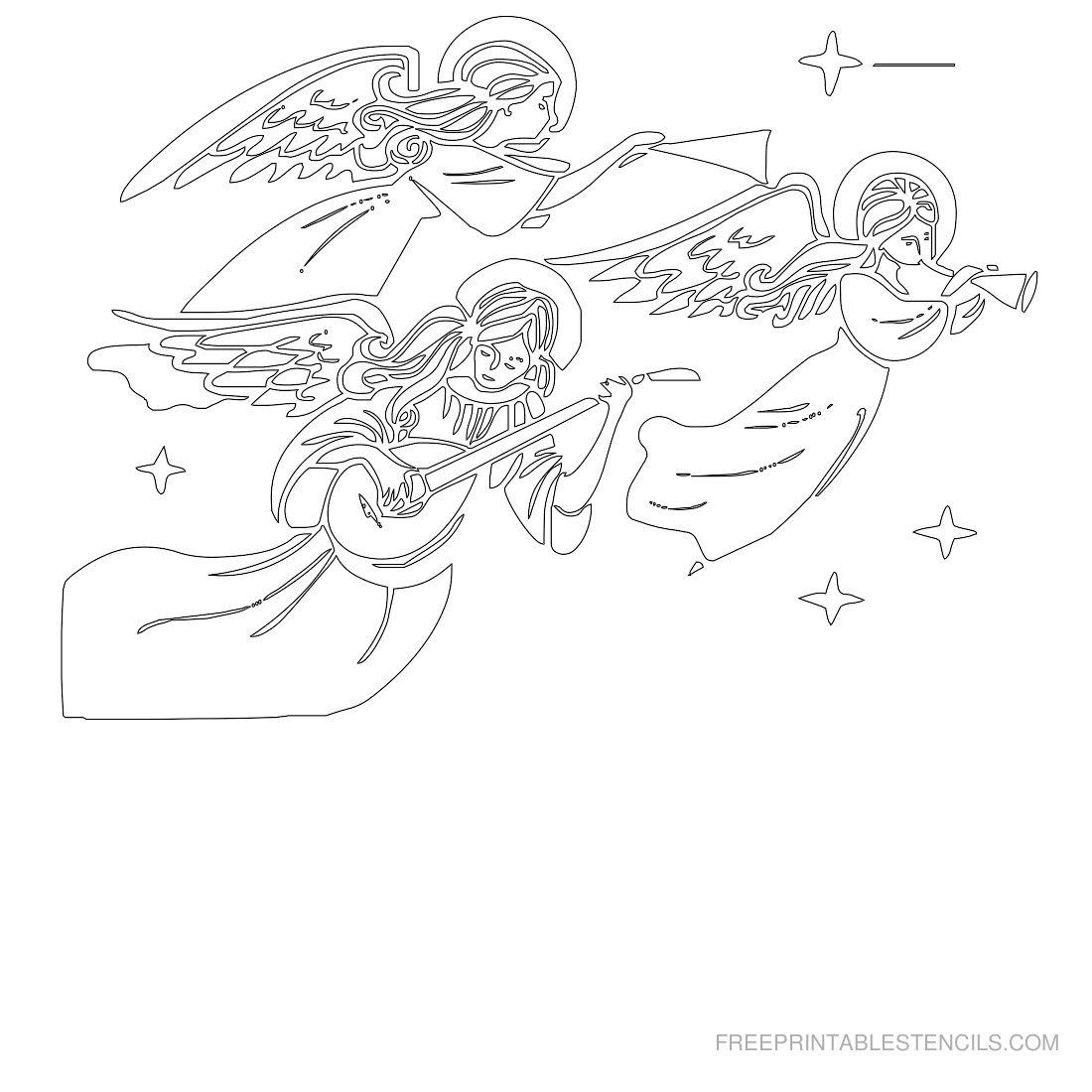Free Printable Angel Stencil M