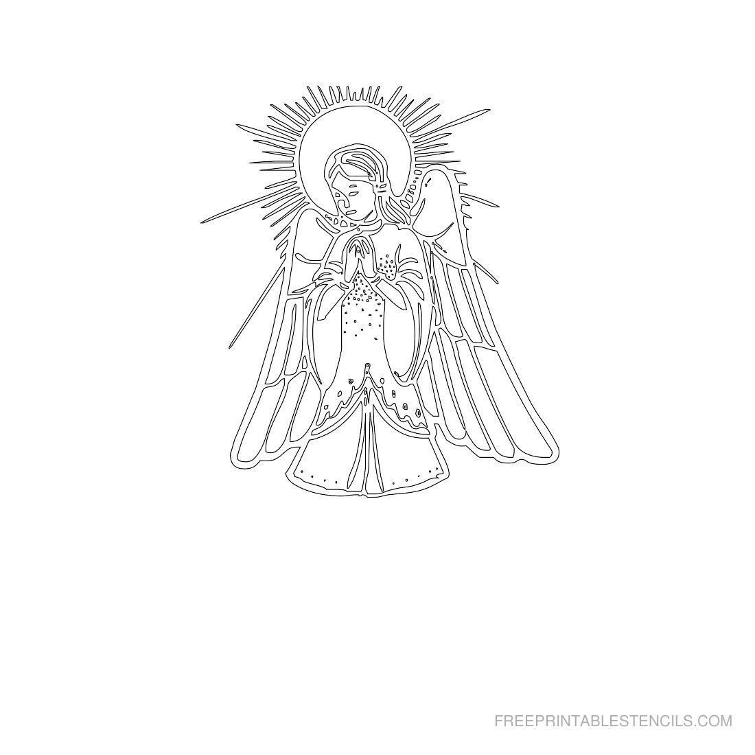 Free Printable Angel Stencil N