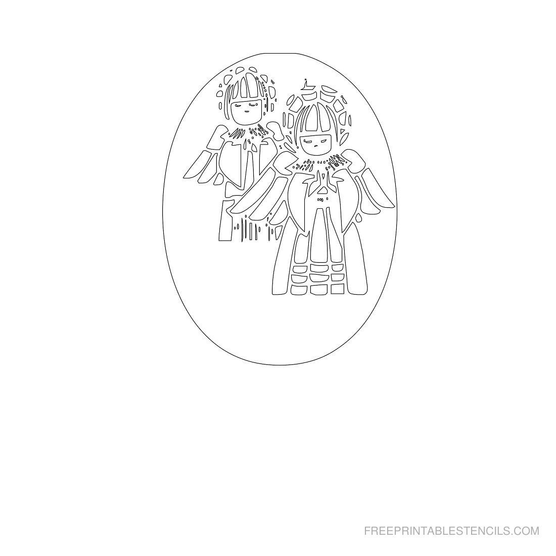 Free Printable Angel Stencil O