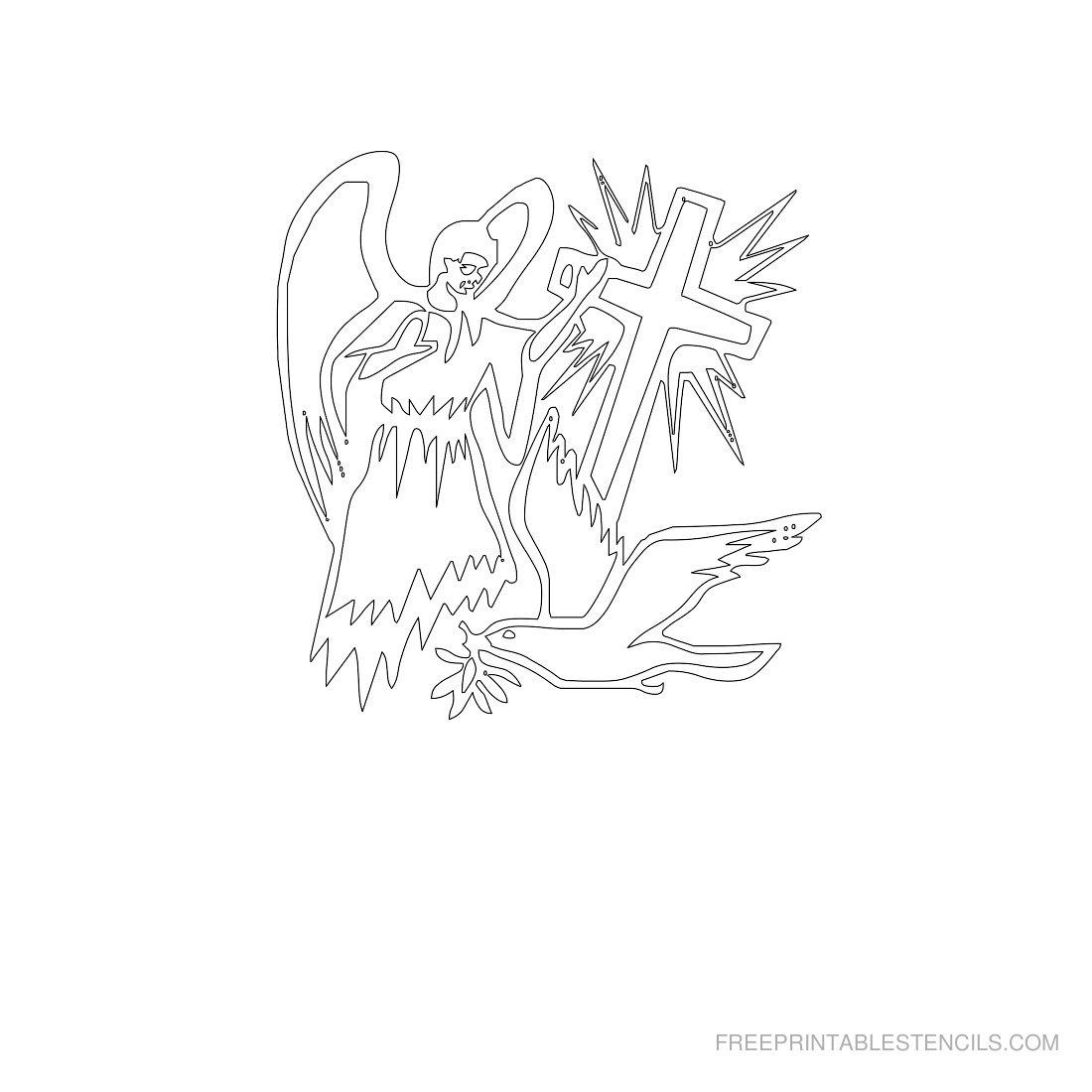 Free Printable Angel Stencil P
