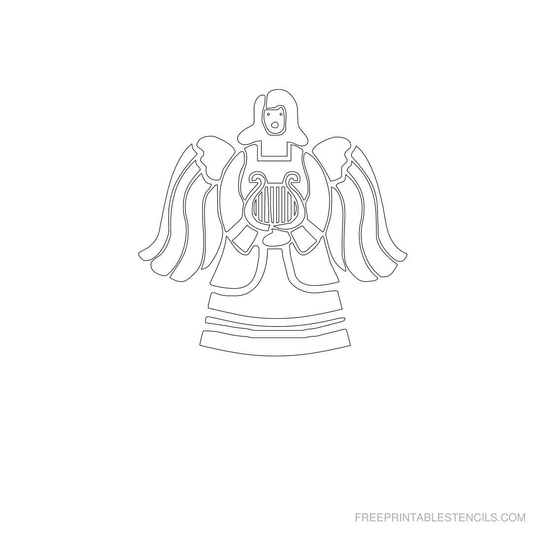 Free Printable Angel Stencil Q