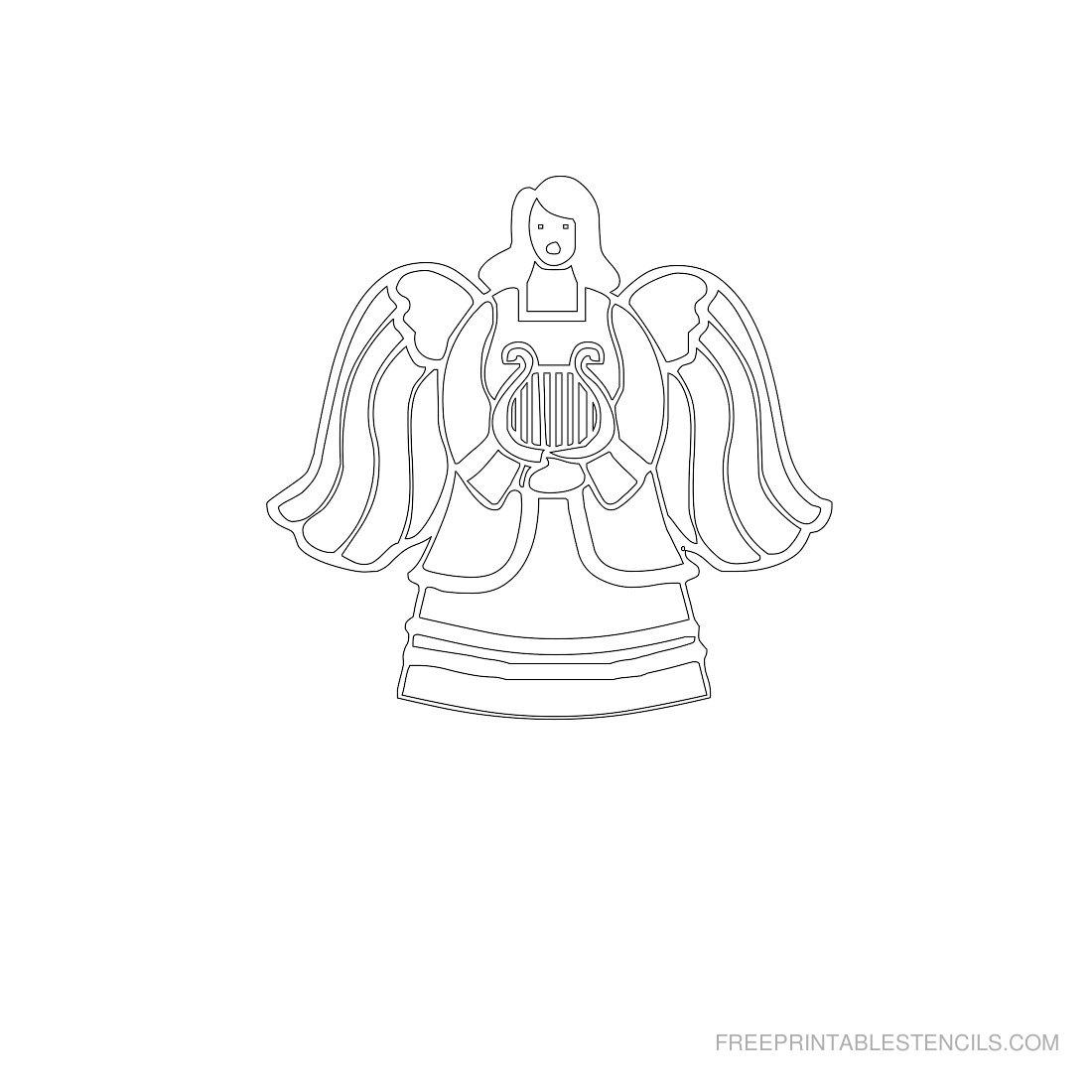 Free Printable Angel Stencil R