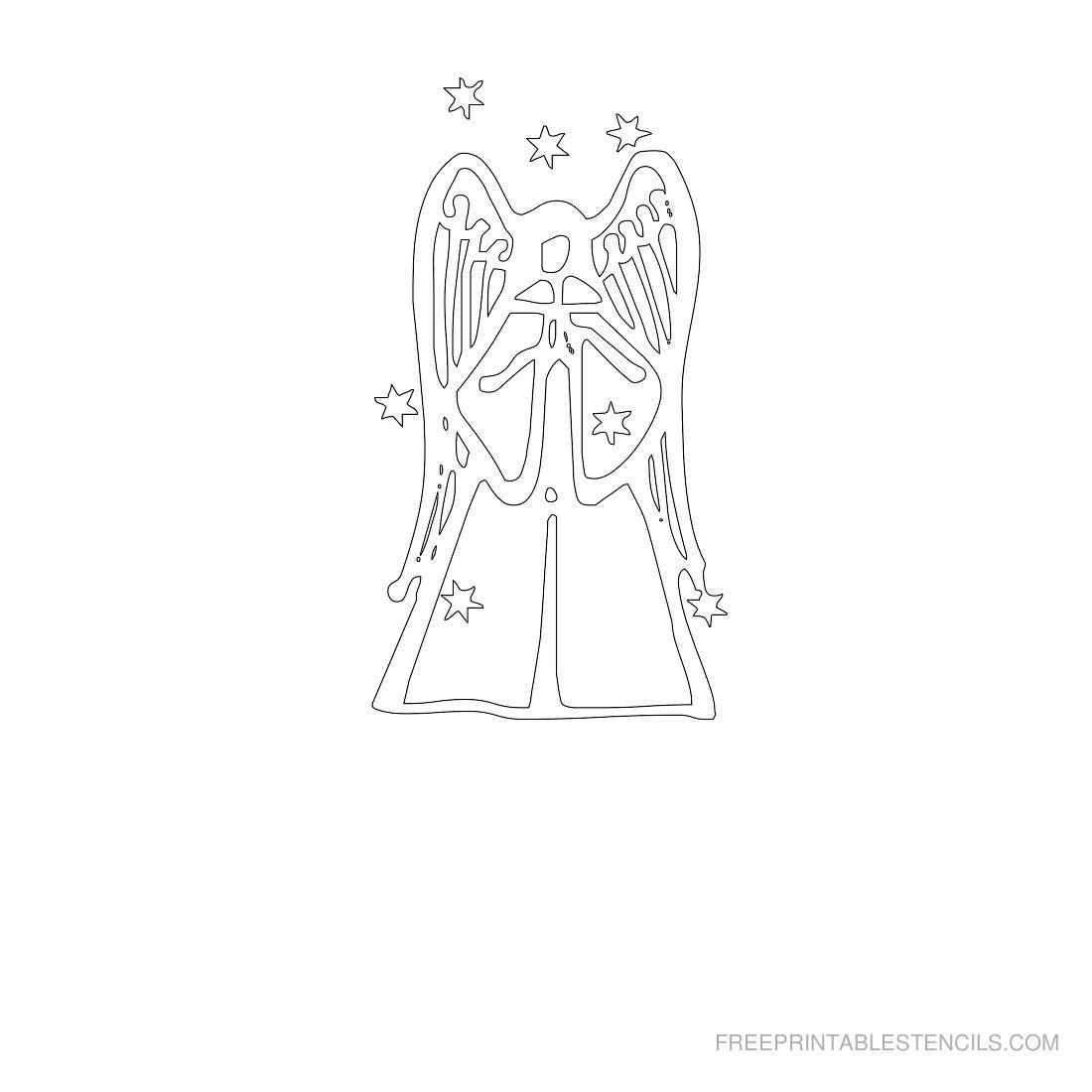 Free Printable Angel Stencil S
